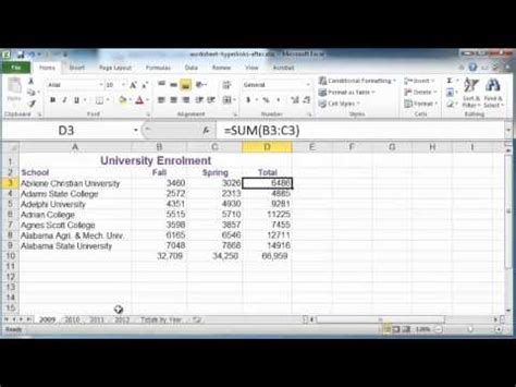 tutorial hyperlink excel excel tutorial creating hyperlinks in excel 2010 youtube