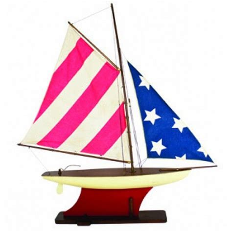wooden boat flags buy wooden american flag sailboat 35 inch ship model