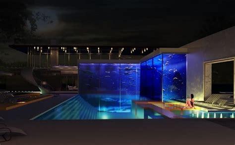 Aquarium Pool Table by A Bespoke Pool And Aquarium Complex By Okeanos Aquascaping