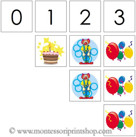 free printable montessori math materials 0 to 10 numbers counters birthday printable