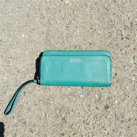82 coach clutches wallets coach 82 coach clutches wallets blue turquoise color coach wallet clutch from
