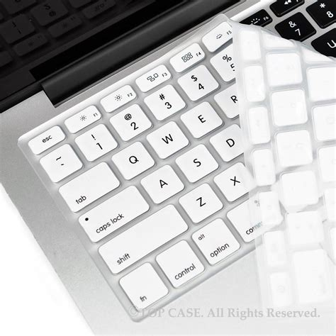 Macbook White 7 1 top white silicone keyboard skin forall macbook 13