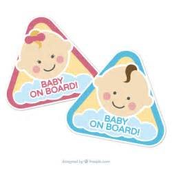 baby on board template baby on board signs vector free