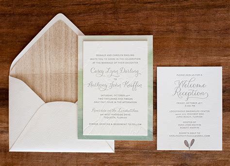 Paper To Make Invitations - anthony casey s nature inspired watercolor wedding