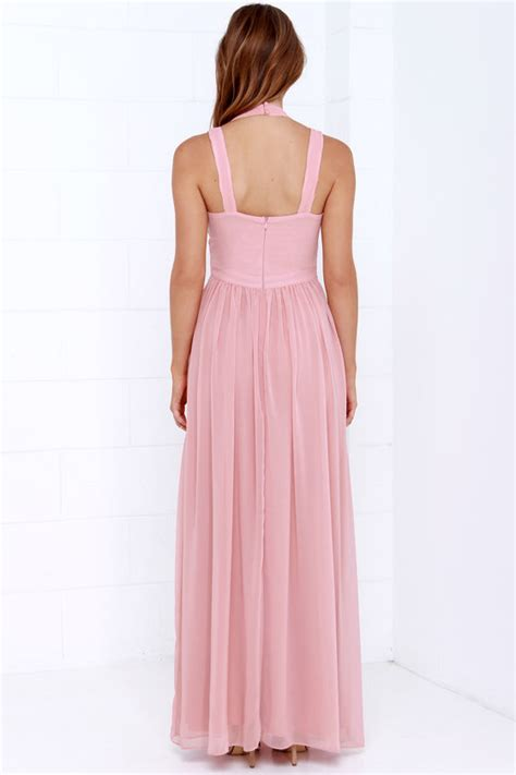 Maxi Manila L Dusty Pink maxi dress backless dress dusty pink dress 88 00