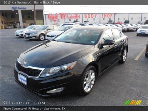 2013 Kia Optima Black Black 2013 Kia Optima Lx Beige Interior