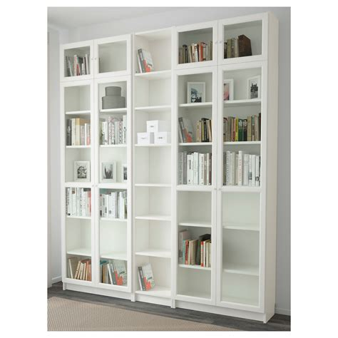 billy oxberg bookcase white 200x237x30 cm ikea
