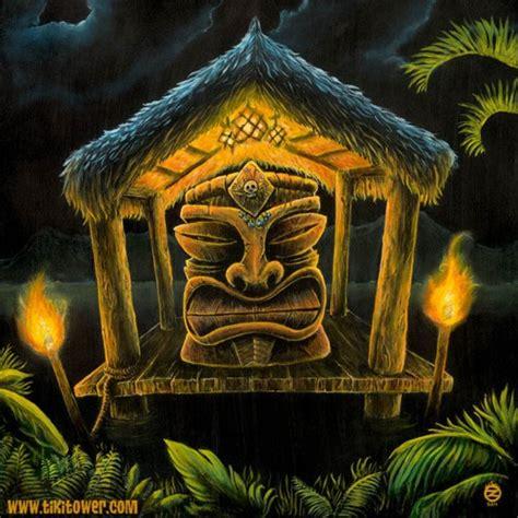 Tiki Hut Drawing Tiki Hut Tiki