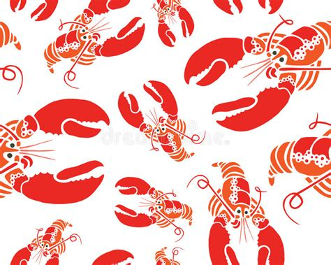 cute lobster pattern lobster seamless pattern stock illustration image of