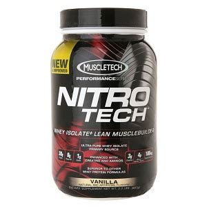 Whey Protein Nitro Tech muscletech nitro tech whey protein isolate vanilla drugstore