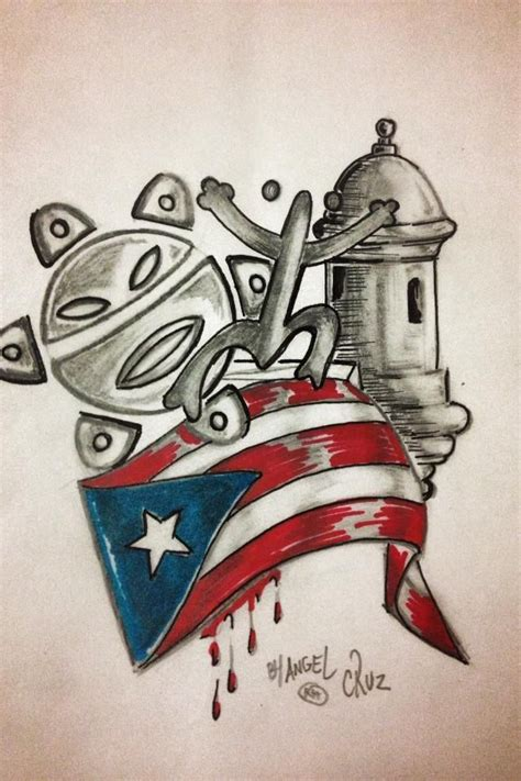 puerto rico tattoo designs by todo flag
