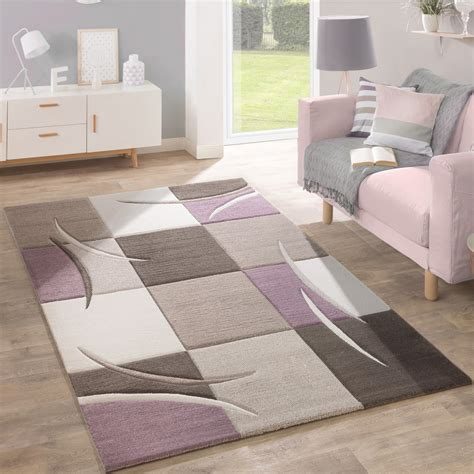 teppiche pastellfarben designer teppich karo pastellt 246 ne lila design teppiche