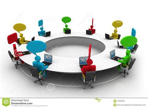 imagenes de reuniones informativas gente en la mesa de reuniones stock de ilustraci 243 n