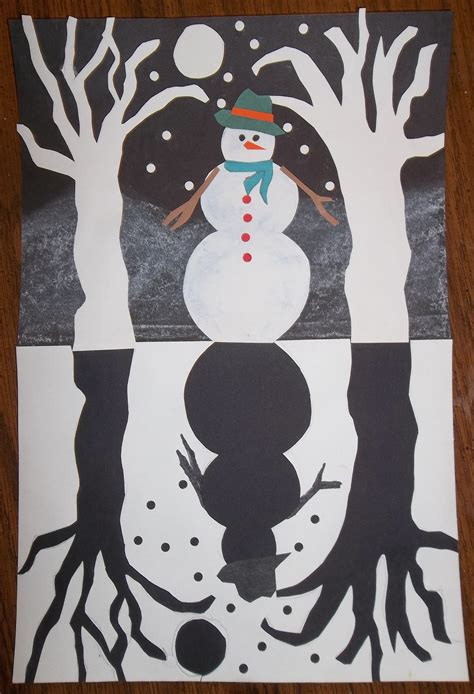 fifth grade winter art projects snowy winter glitter