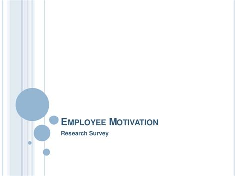 Employee Motivation Project For Mba by Employee Motivation