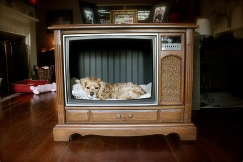 tv dog bed upcycle an old console tv celebrate every day
