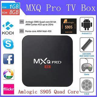 Mxq Pro Smart Android Tv Box Android 51 Amlogic S905 mxq pro amlogic s905 android 5 1 smart tv box media player iptv quadcore1g 8g uhd 4k buy mxq