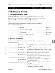 worksheets sedimentary rock worksheet chicochino