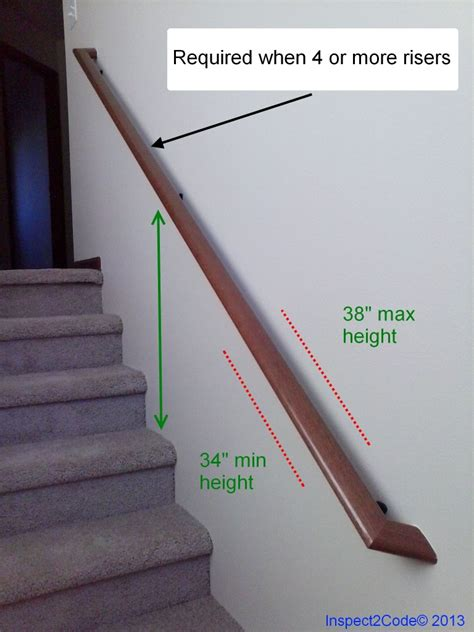 Code For Handrail Height residential code requirement for handrail inspect2code