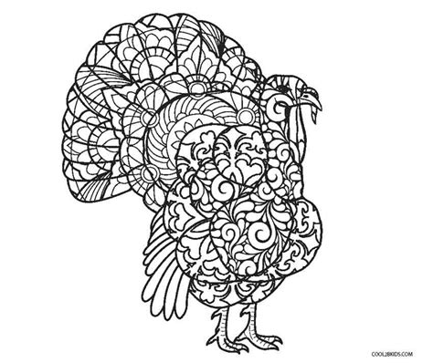 coloring pages for adults thanksgiving free printable turkey coloring pages for cool2bkids