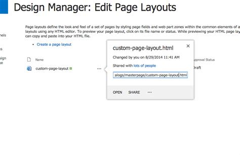 js file layout get publishing page layout html file contents via