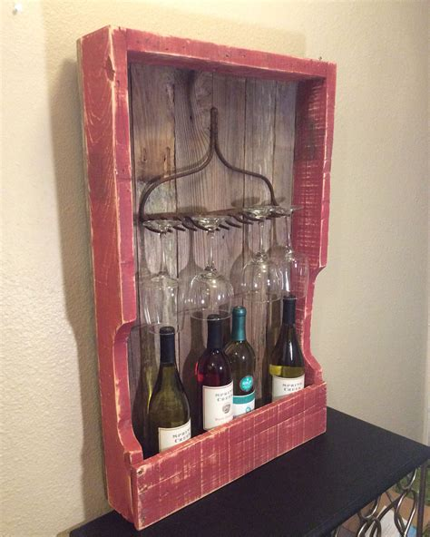 rustic wine rack rustic wine rack from pallet wood and fence pickets with