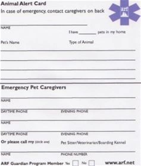 emergency pet ionfo card template pet emergency preparedness on pet care