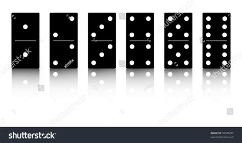 Domino And The Search For Identity Domino Black Set Vector Illustration On White Background 90501415