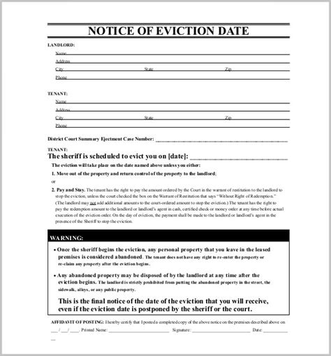printable eviction notice pa eviction notice form free form resume exles 5ozjav8pxg