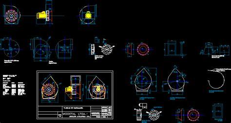 ventilador centrifugo vl  en autocad cad  kb