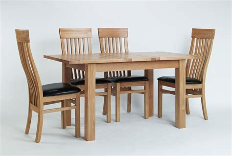 Small Oak Dining Table And 4 Chairs Sherwood Oak Small Extending Dining Table 4 Or 6 Sherwood Oak Slat Back Chairs