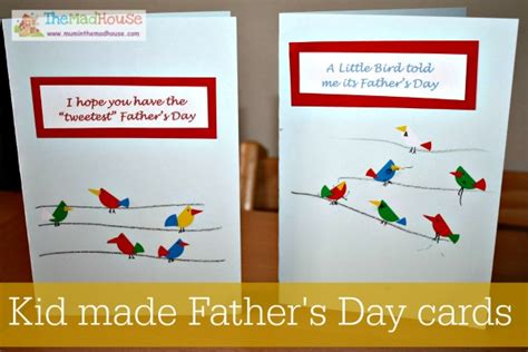 fathers day cards for children to make fathers day ideas in the madhouse