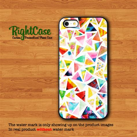 Iphone 4 4s Pizza Black Hardcase abstract triangle pizza colorful watercolor phone