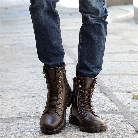 bota cuero hombre botas hombre moda