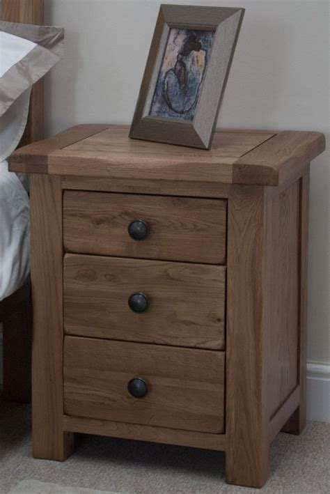 Homestyle Gb Furniture by Buy Homestyle Gb Rustic Oak Bedside Cabinet 3 Drawer