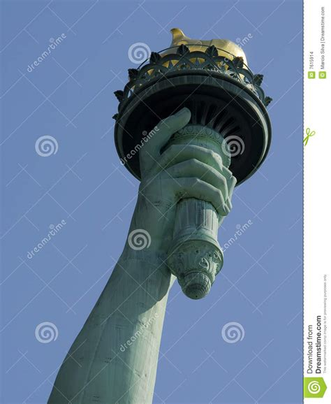 statue of liberty arm with torch statue of liberty stock images image 7615914