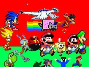 Mario bros run to sonic exe on scratch