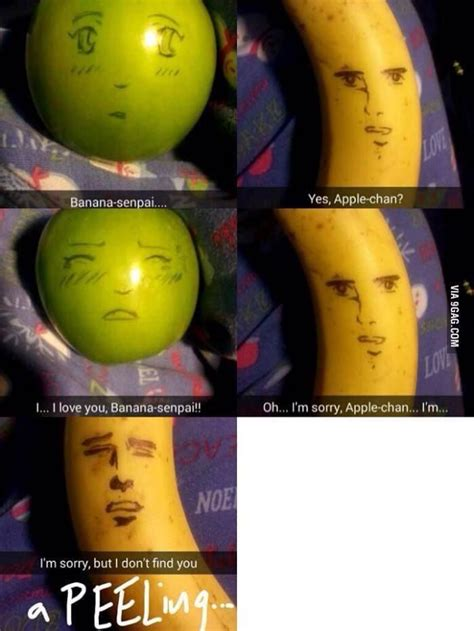 Fruit Memes - senpai apple and banana meme fruit memes anime meme