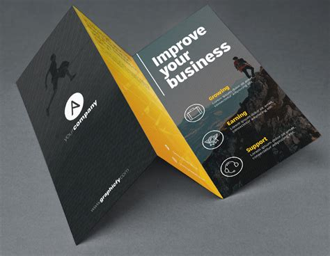tri fold brochure template psd brochure templates