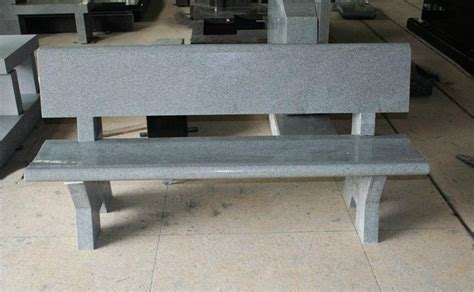 Stone Benches For Cemetery Light Gray G633 Granite Monument Amp Tombstone Cemetery