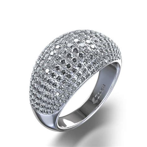 multi stone 1 3 4 ctw pave diamond ring in 14k white gold