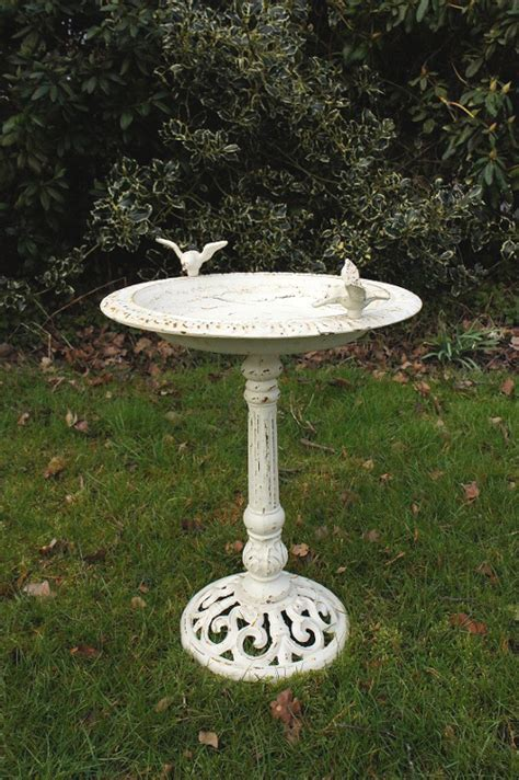 """Josette"" Antique Cast Iron Bird Bath   Bird Baths & Bird"