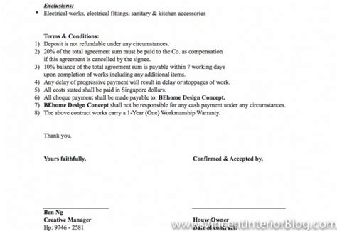 Contract Quotation Letter Punggol Bto 4 Room Hdb Renovation By Interior Designer Ben Ng Part 1 Vincent Interior