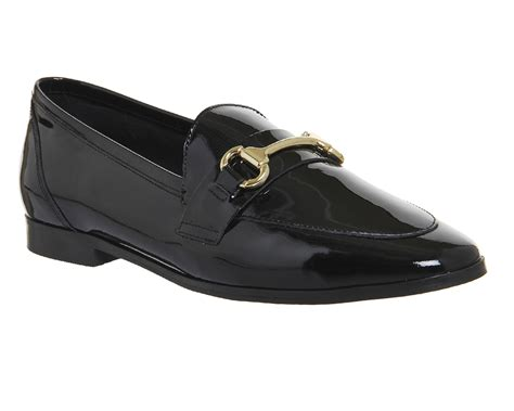 womens black loafers womens office destiny 2 trim loafers black patent leather