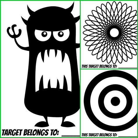 free printable monster targets a daisy bb gun and accessories make great gifts for boys