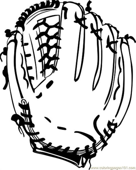 coloring pages baseball glove bw ganson sports gt baseball
