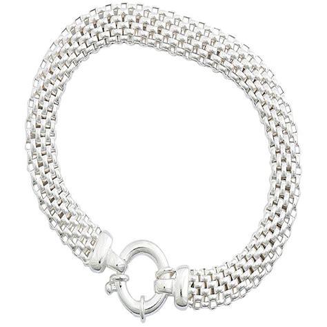 sterling silver mesh bracelet silver bracelets jewelry
