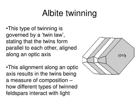 types of twinning in thin section ppt mineral growth powerpoint presentation id 3145542