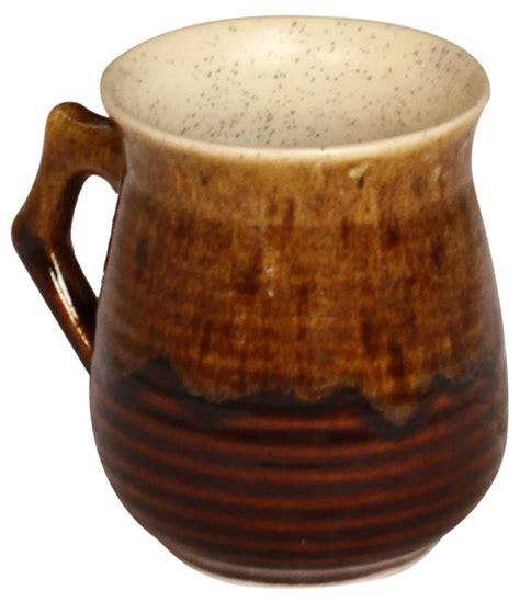 ceramic bulk bulk 5 quot ceramic cup mug painted shaded brown
