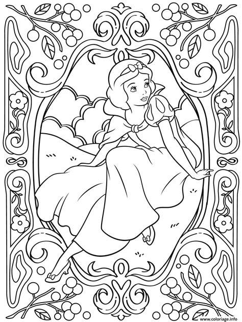 disney anti stress coloring book coloriage mandala disney princesse blanche neige dessin